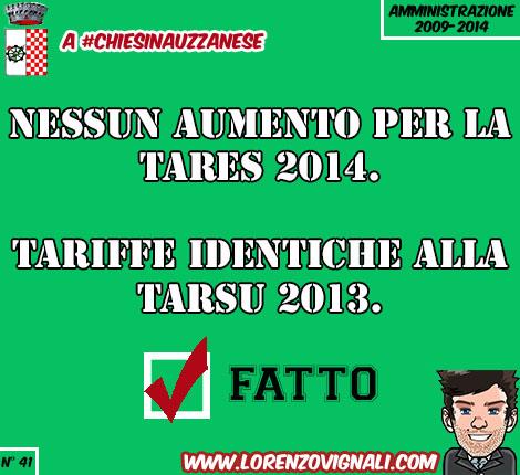 Nessun aumento per la TARES 2014, tariffe identiche alla TARSU 2013.