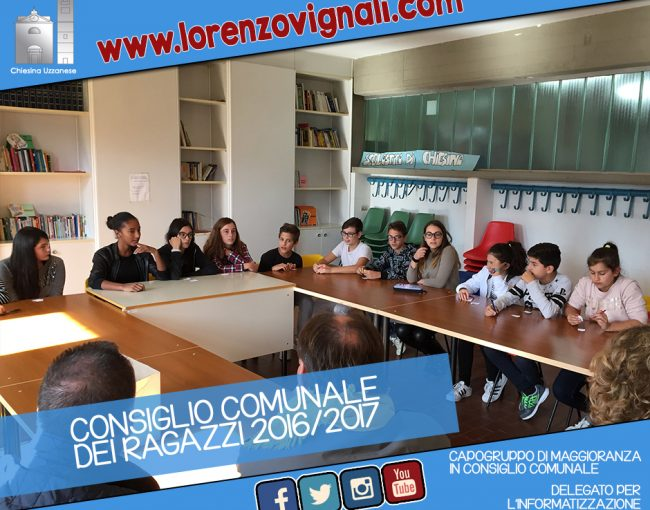 Consiglio Comunale dei Ragazzi 2016/2017.