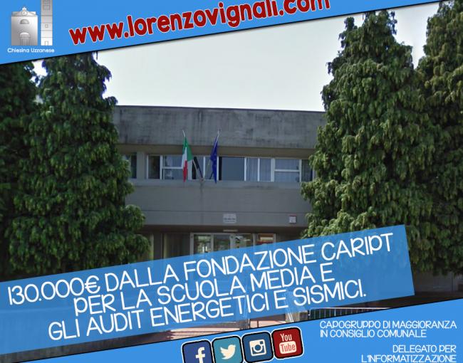 130.000€ dalla Fondazione per la Scuola Media.