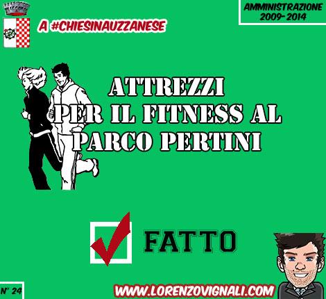 Attrezzi per il fitness al Parco Pertini.