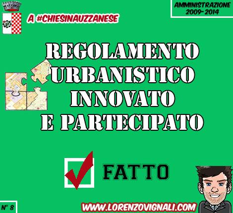 Regolamento urbanistico rinnovato e partecipato.