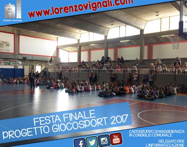 Festa finale GiocoSporto 2017.